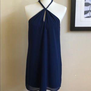 Twist neck dress